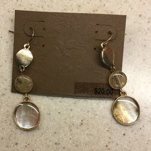 Matte Gold dangle earrings